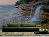 Waterfall On The Beach - Wall Murals Waterfalls & Posters