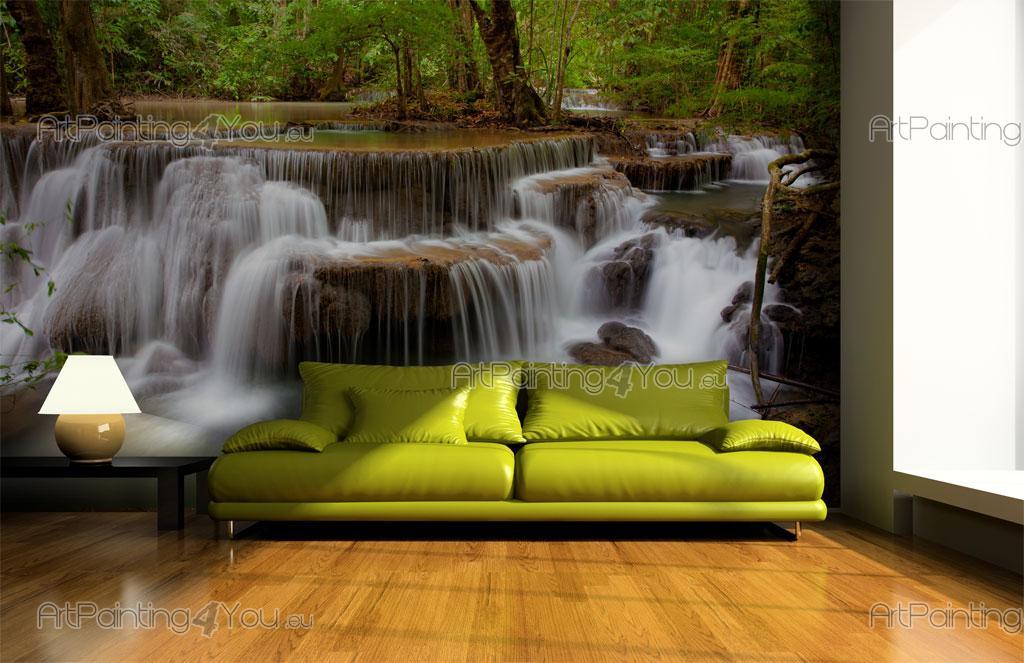 papier peint poster personnalis sur mesure cascade tropicale mcca1033fr. Black Bedroom Furniture Sets. Home Design Ideas