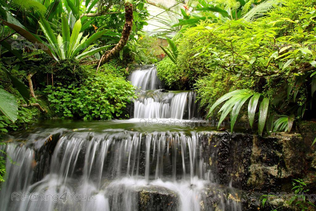 Cascadas de jardin fuente piedra jardin cascada flores for Cascadas de jardin