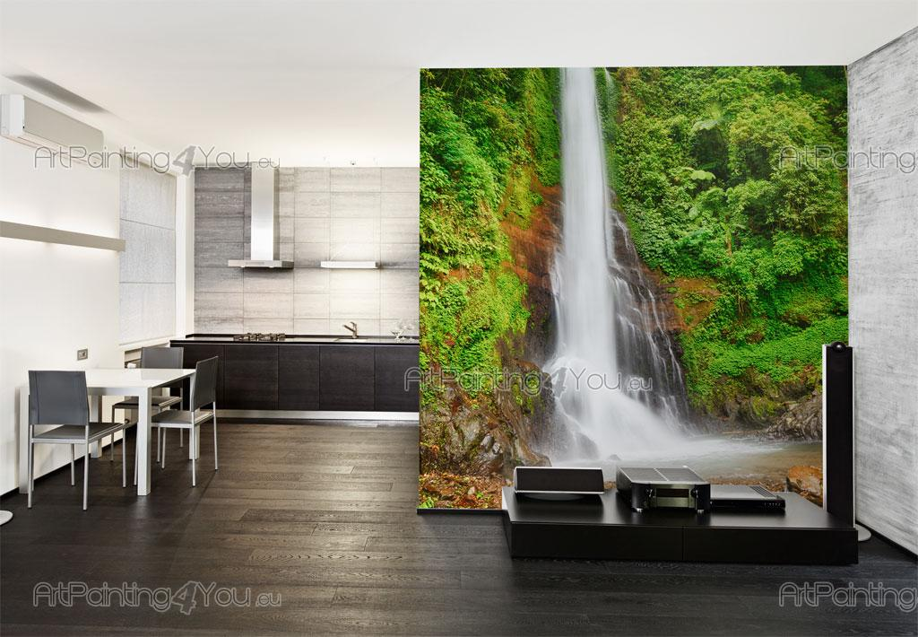 Tropical waterfall wall murals posters mcca1041en for Poster mural 4 murs