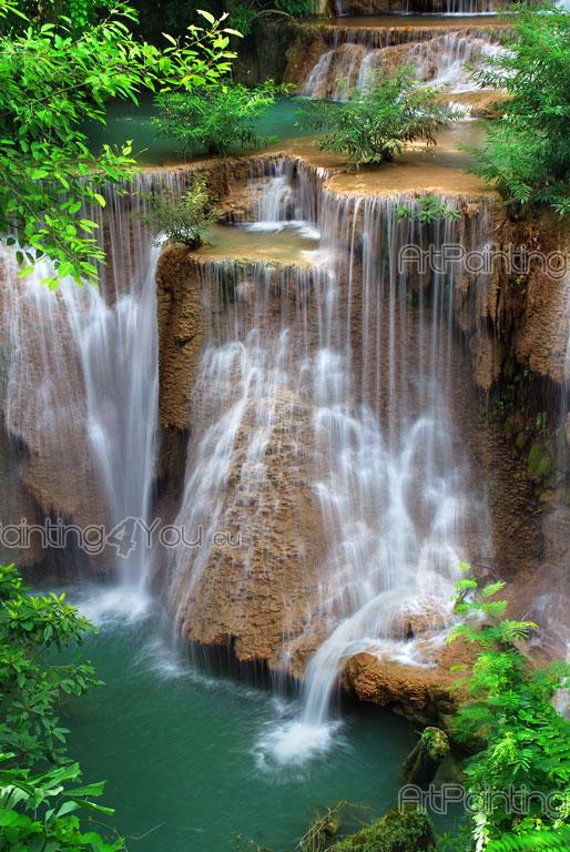 Wall Murals Amp Posters Custom Size Waterfall In Forest