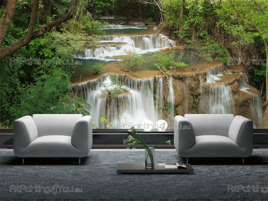 waterfall wall murals