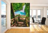 Waterfall in Forest - Wall Murals Waterfalls & Posters