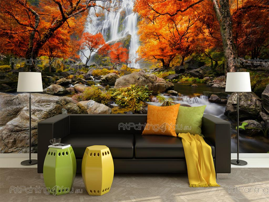 autumn waterfall wall murals posters mcca1071en autumn waterfall wall murals waterfalls posters