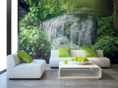 Wall murals for bedrooms made in high resolution with stunning nature landscape with waterfalls