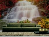 Wall murals with stunning nature landscape with waterfalls.