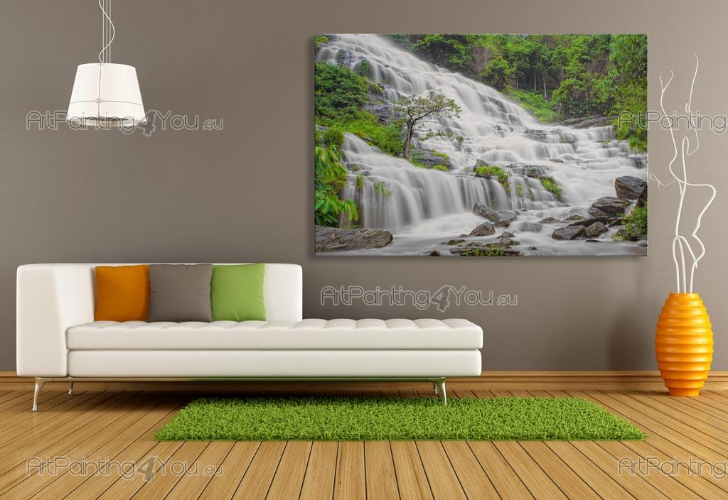Poster Murali Per Camere Da Letto : Carta da parati & poster personalizzata cascata foresta