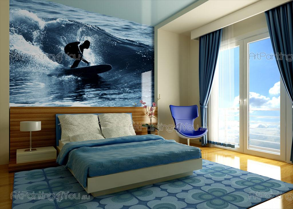 papier peint poster surfeur mcd1009fr. Black Bedroom Furniture Sets. Home Design Ideas