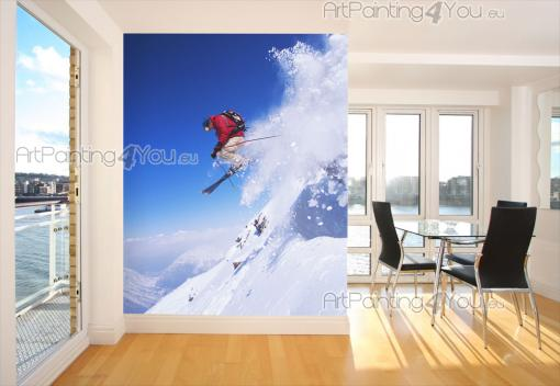 papier peint poster skieur. Black Bedroom Furniture Sets. Home Design Ideas