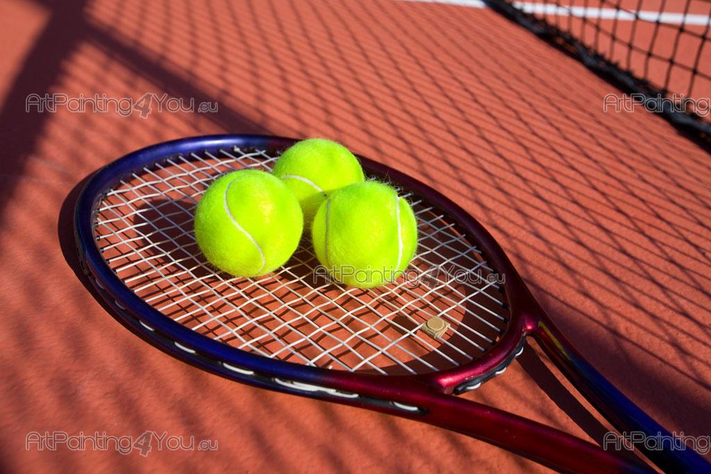 Papier Peint & Poster Raquette de Tennis & Balles ...