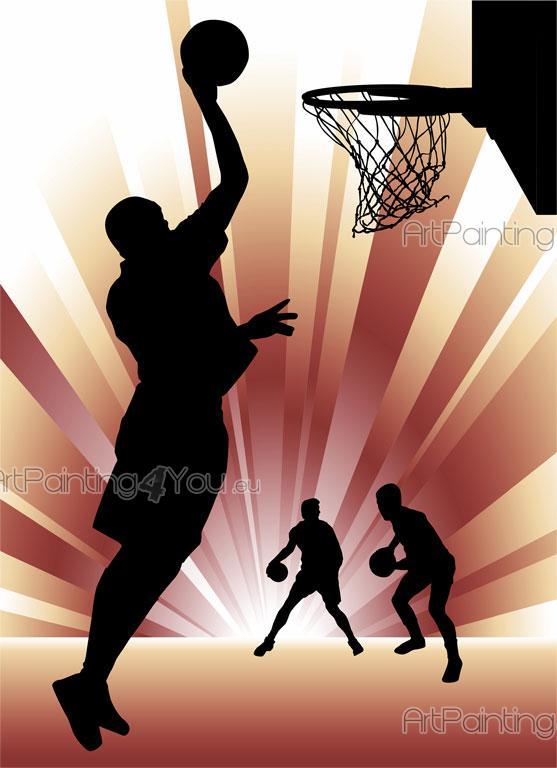 Joueurs Basket - Papier Peint & Poster (Mcd1026Fr