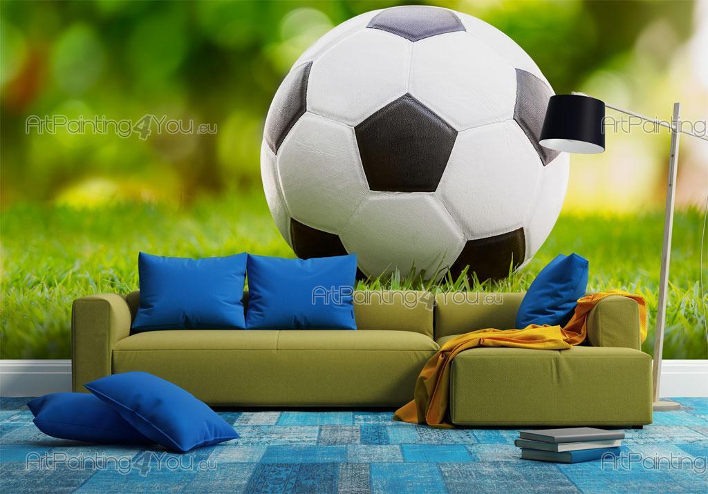 papier peint poster ballon de football artpainting4you. Black Bedroom Furniture Sets. Home Design Ideas