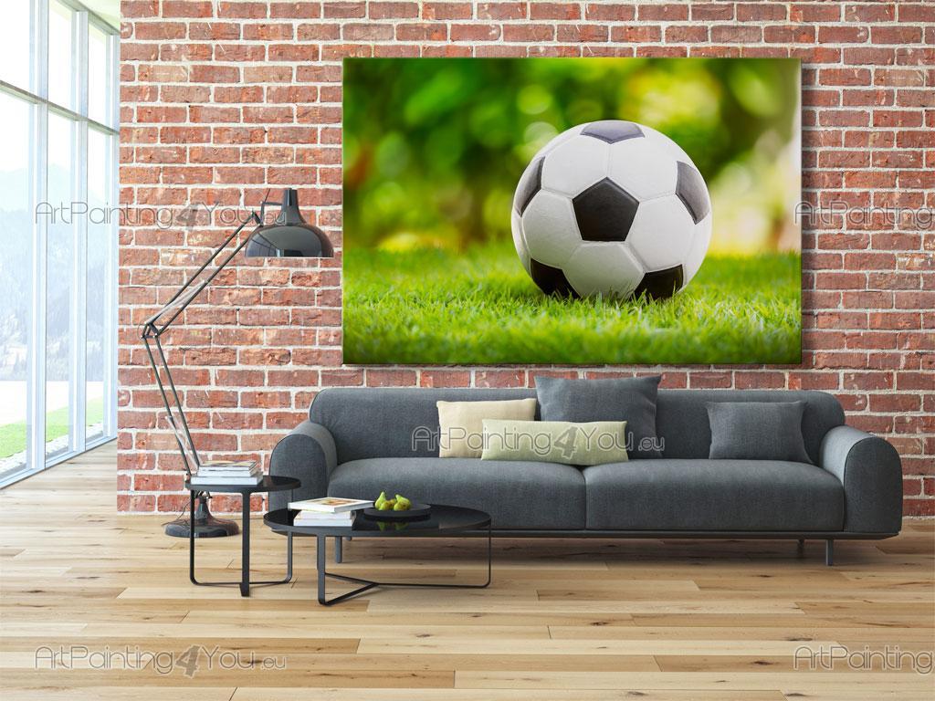 Papier Peint Poster Ballon De Football Artpainting4you Eu