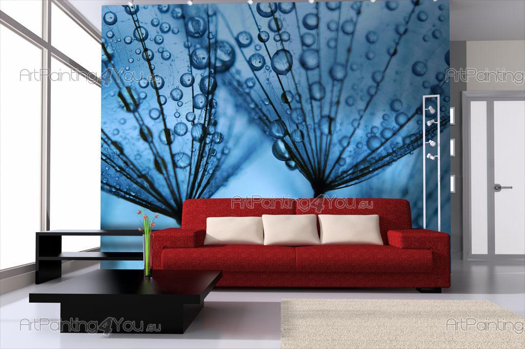 Papier peint fleurs poster impression sur toile dent de for Poster sur toile