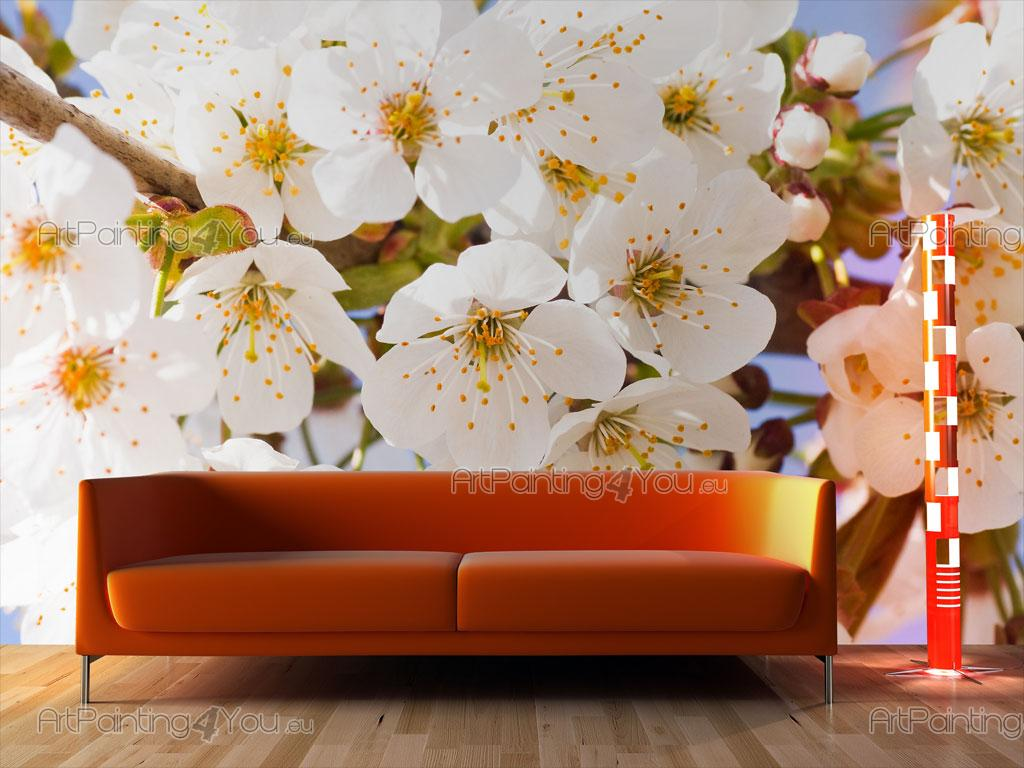 Wall murals posters cherry blossoms for Cherry blossom mural on walls