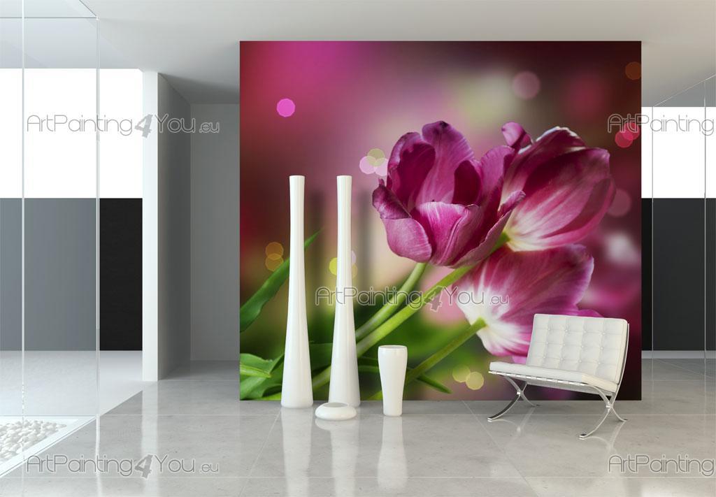 papel de parede murais de parede flores telas decorativas. Black Bedroom Furniture Sets. Home Design Ideas