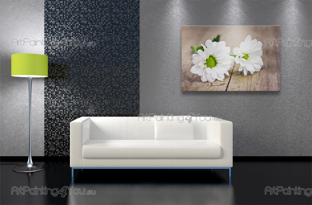 papier peint fleurs poster impression sur toile gerbera. Black Bedroom Furniture Sets. Home Design Ideas