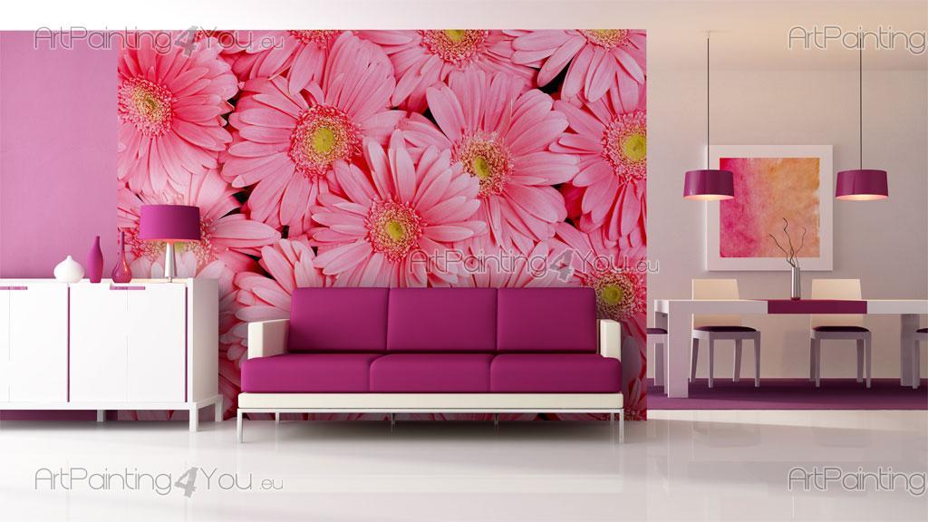 papier peint poster gerbera. Black Bedroom Furniture Sets. Home Design Ideas