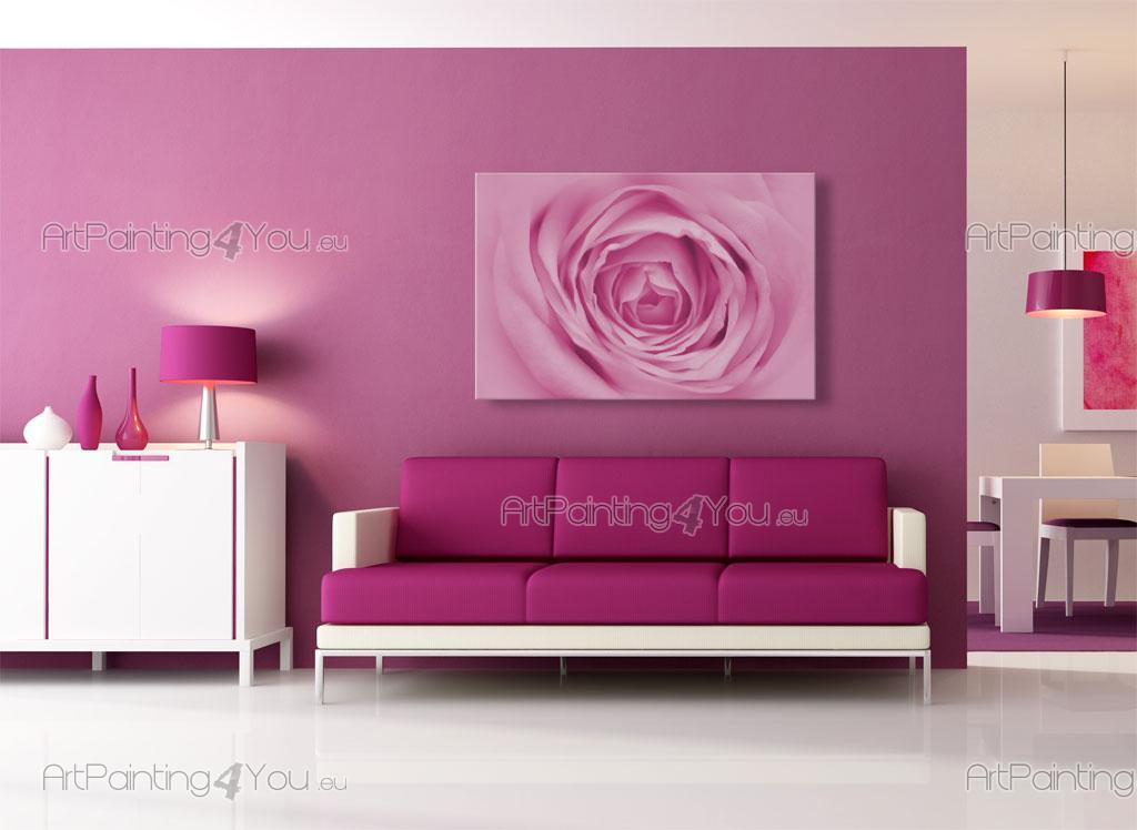 papier peint fleurs poster impression sur toile rose. Black Bedroom Furniture Sets. Home Design Ideas