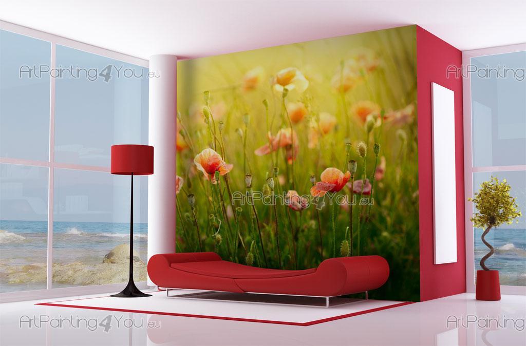 coquelicot papier peint poster mcf1055fr. Black Bedroom Furniture Sets. Home Design Ideas