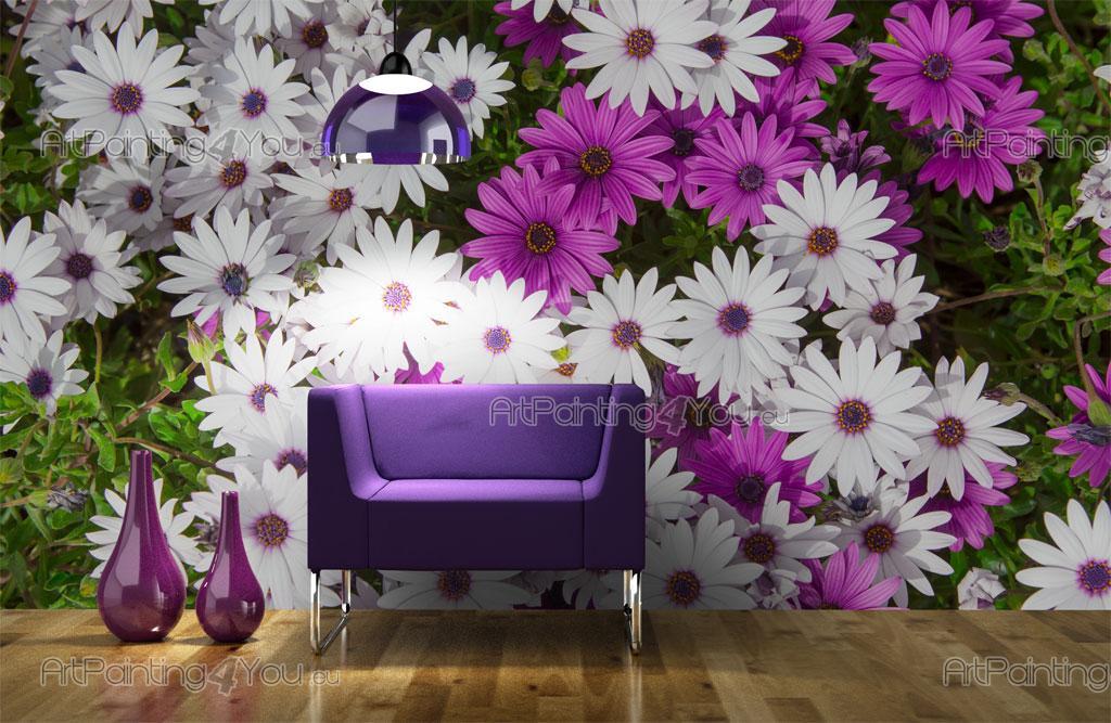 papier peint fleurs poster impression sur toile fleur marguerite 1849fr. Black Bedroom Furniture Sets. Home Design Ideas