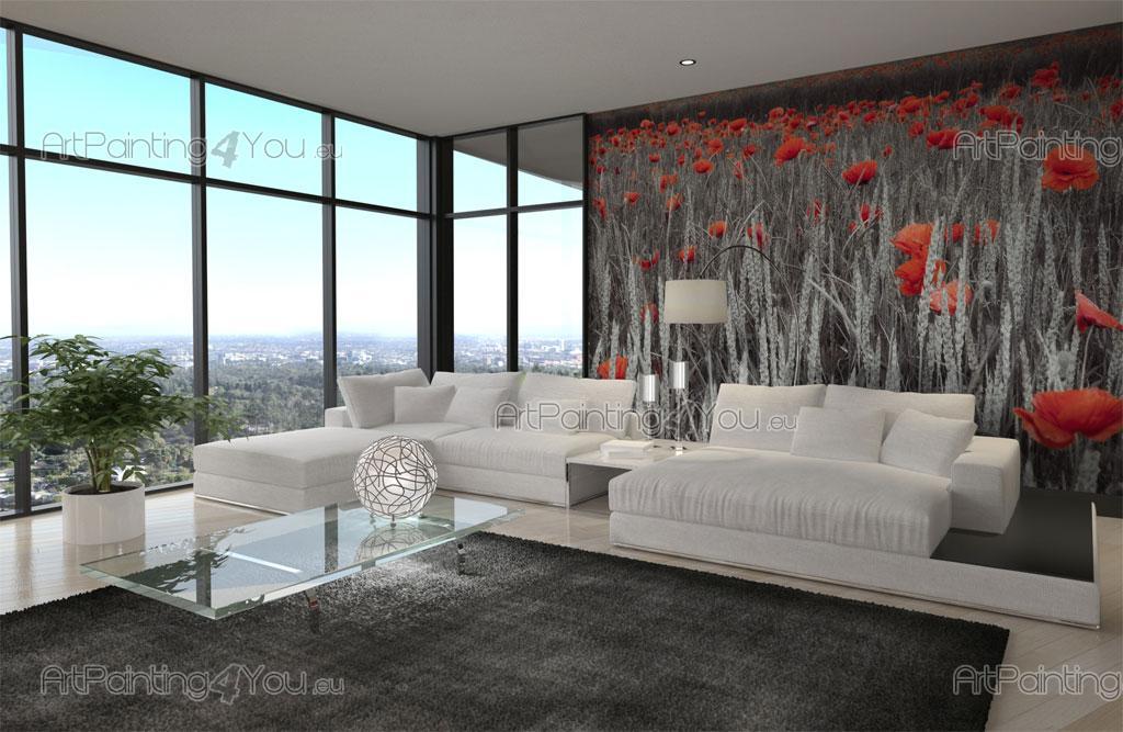 papier peint poster coquelicot mcf1070fr. Black Bedroom Furniture Sets. Home Design Ideas