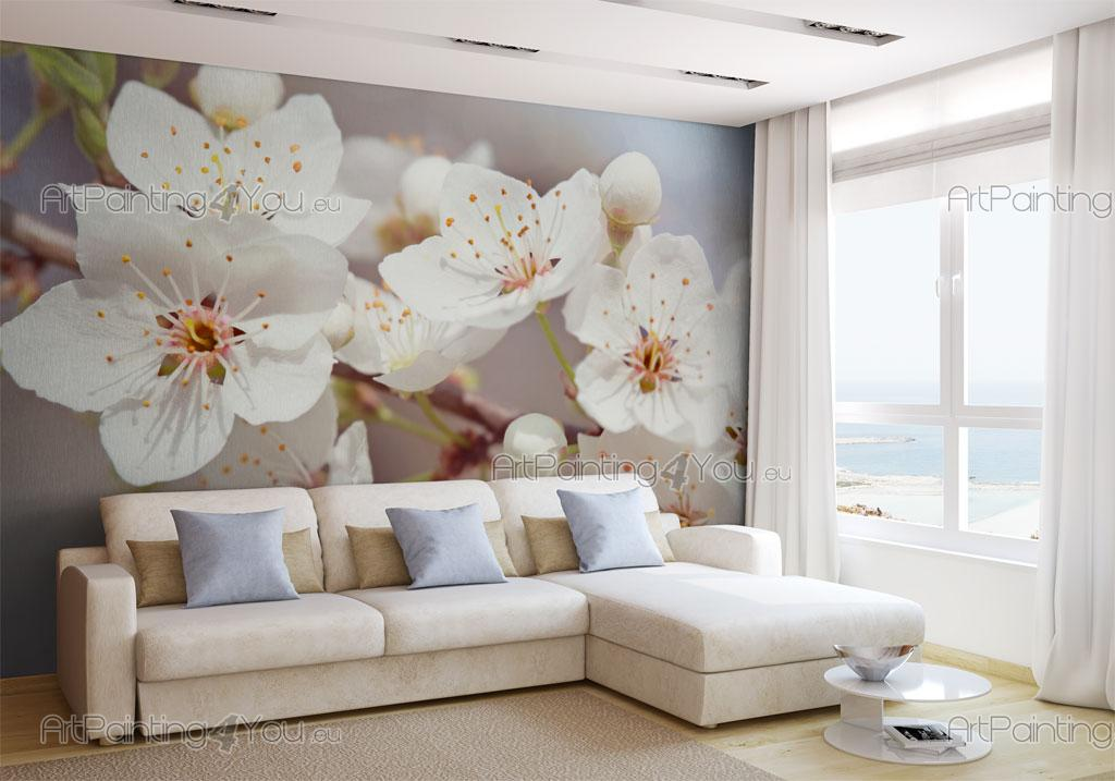 Fleurs de cerisier papier peint poster mcf1075fr - Papier peint fleur de cerisier japonais ...
