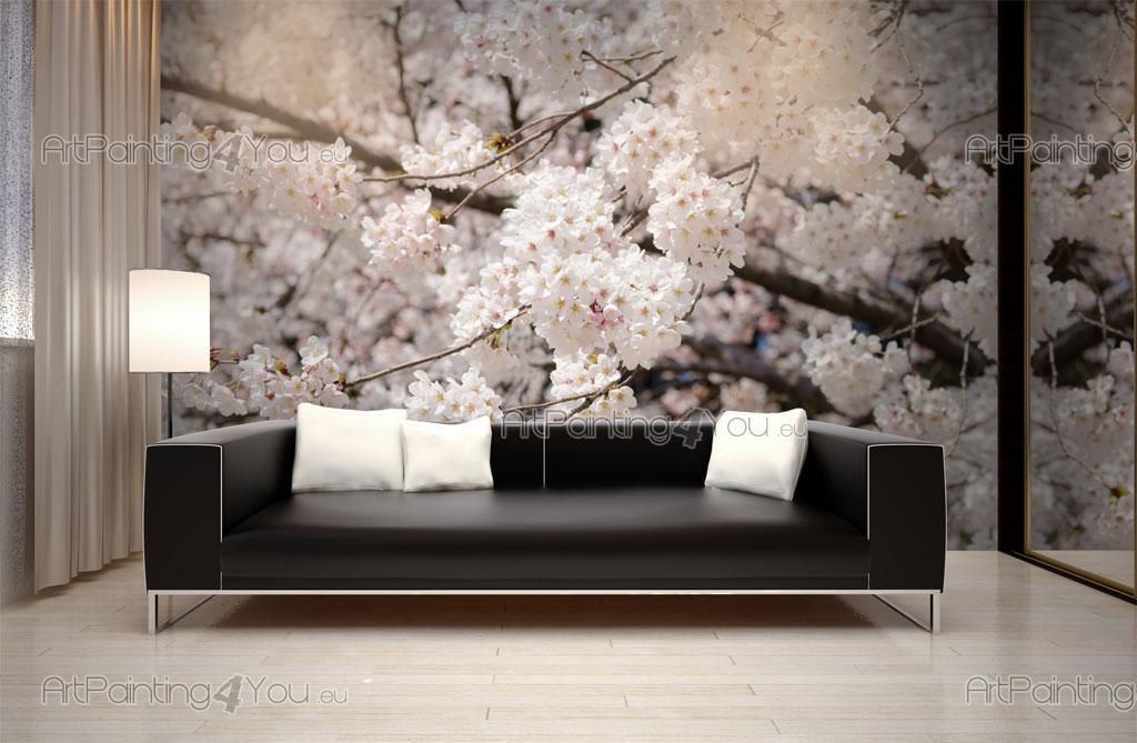 Fleurs de cerisier papier peint poster mcf1080fr - Papier peint fleur de cerisier japonais ...