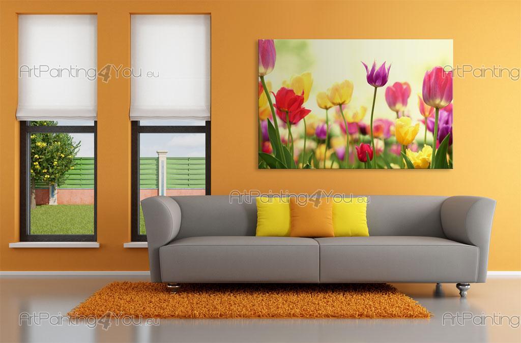 tulipes papier peint poster mcf1082fr. Black Bedroom Furniture Sets. Home Design Ideas