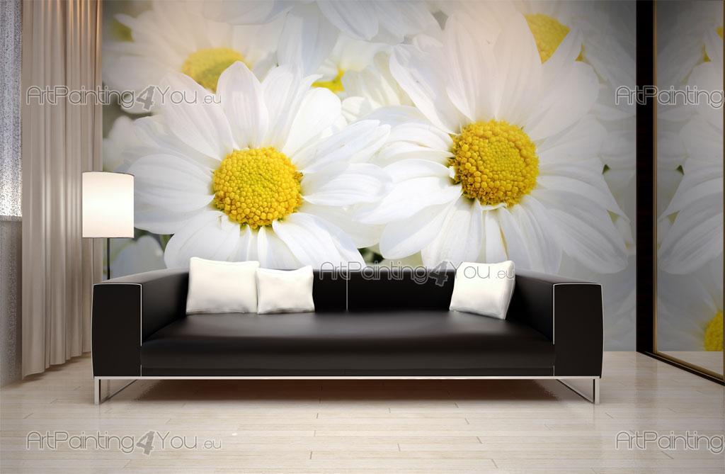 Carta da parati poster fiore margherita - Telas decorativas para paredes ...