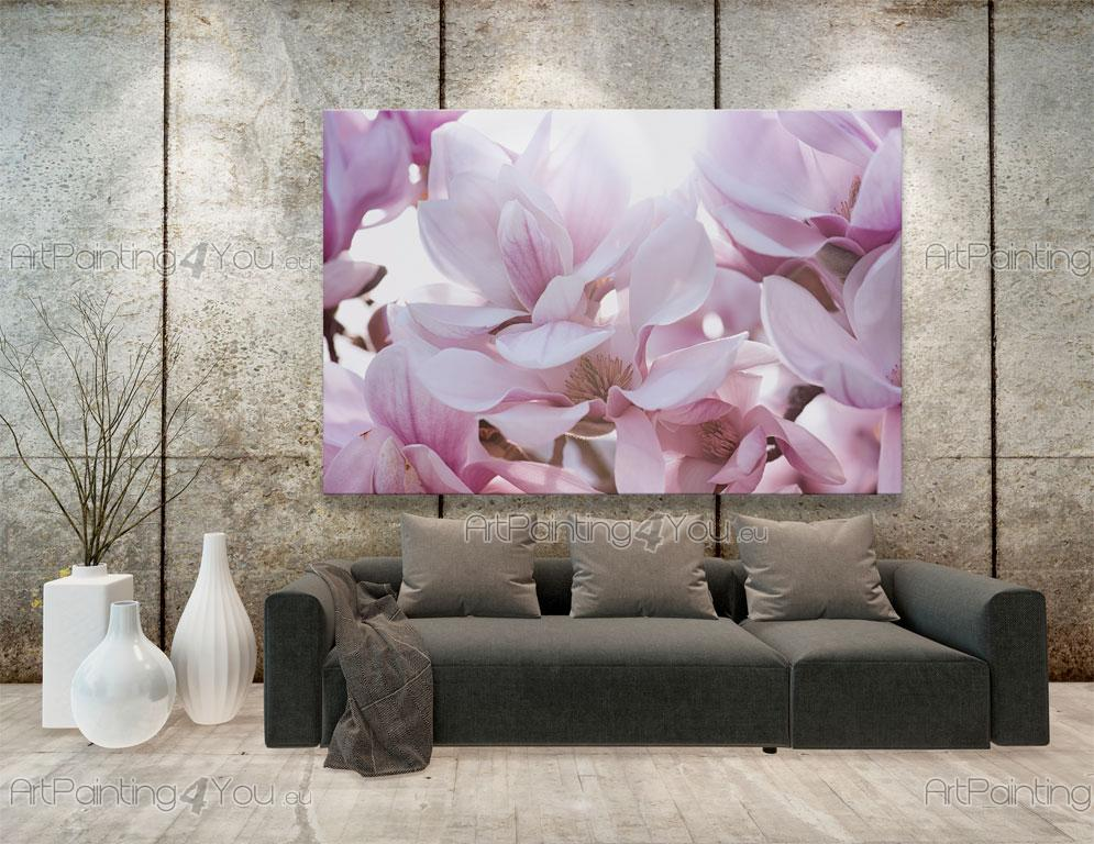 papier peint poster fleur de magnolia mcf1103fr. Black Bedroom Furniture Sets. Home Design Ideas
