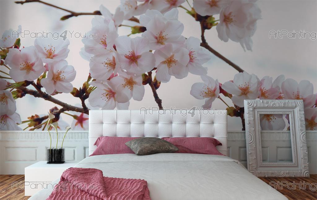 papier peint poster fleurs de cerisier mcf1111fr. Black Bedroom Furniture Sets. Home Design Ideas