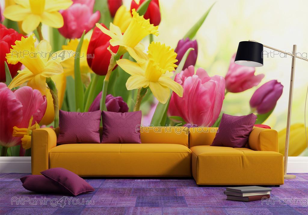 papier peint poster tulipes. Black Bedroom Furniture Sets. Home Design Ideas