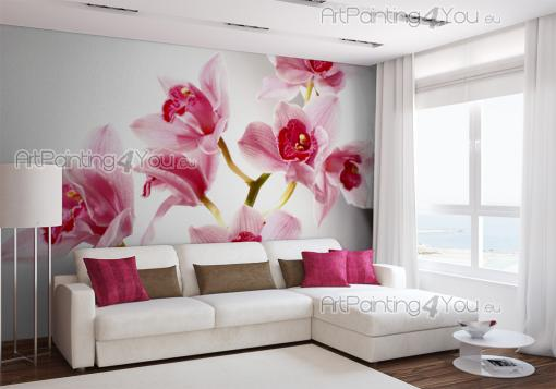 Pink Orchids - Wall Murals Flowers & Posters