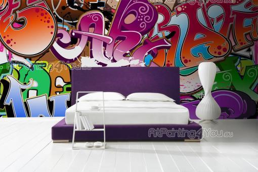 papier peint poster graffiti tag mcgr1003fr. Black Bedroom Furniture Sets. Home Design Ideas