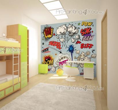Murais e papel de parede banda desenhada pop art - Bandas protectoras de paredes ...
