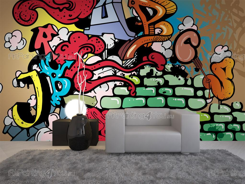 papier peint graffiti musique poster impression sur toile graffiti tag 1436fr. Black Bedroom Furniture Sets. Home Design Ideas