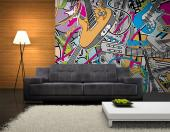 Music Cartoon - Graffiti and Music Wall Murals & Posters
