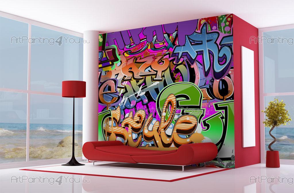 murais e papel de parede graffiti artpainting4youeu