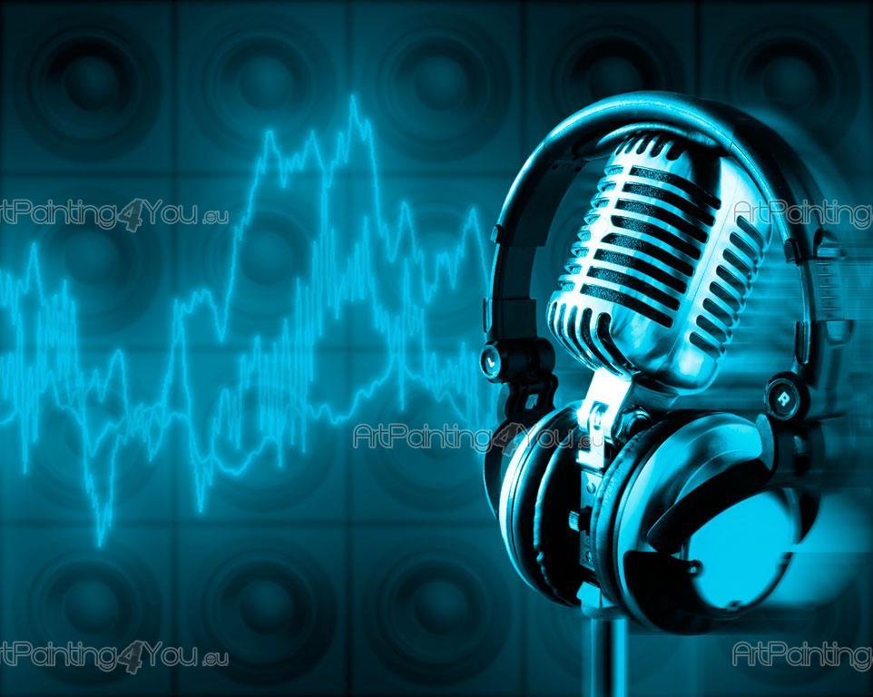 Fotomurales Posters Microfono Retro Artpainting4you Eu