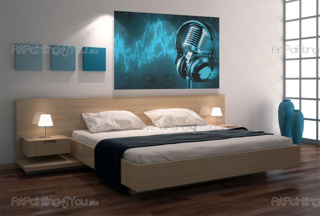 Retro microphone wall murals posters mcgr1019en for Poster mural 4 murs