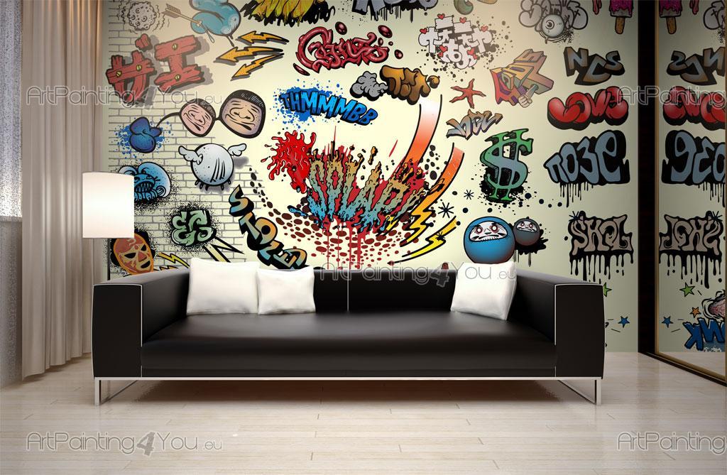 papier peint poster bombes cartoon mcgr1022fr. Black Bedroom Furniture Sets. Home Design Ideas