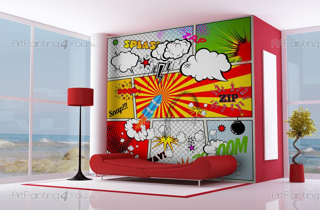 Pop art wall murals surf 39 s up john van hamersveld for Pop wall art