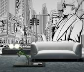 Jazz In New York - Black and White Wall Murals & Posters