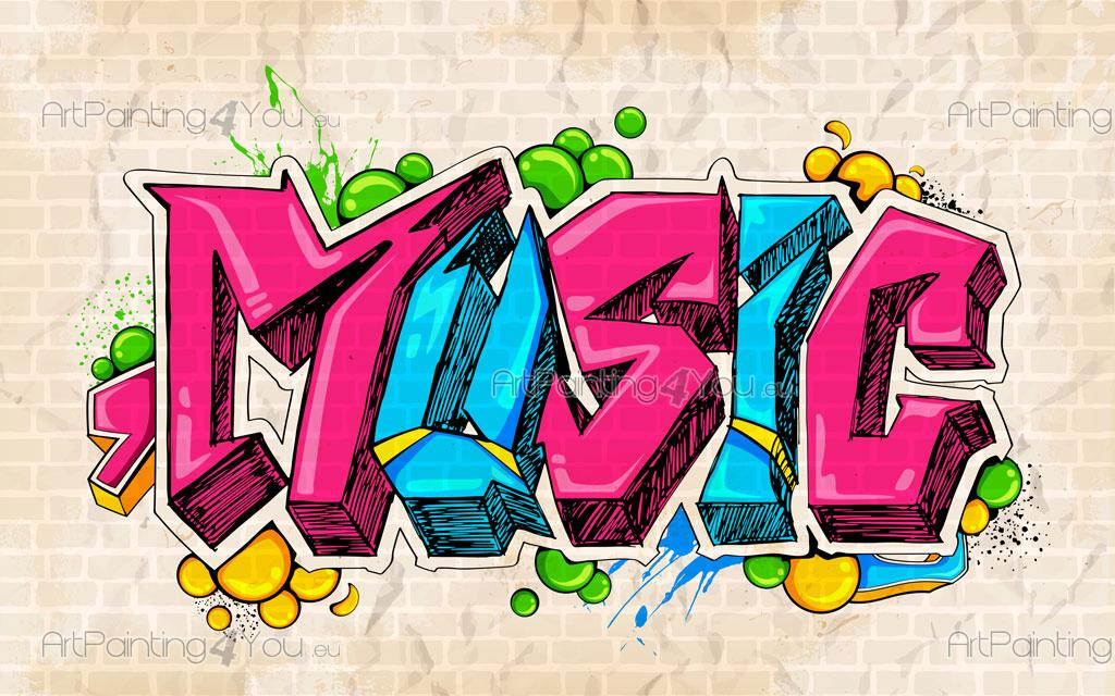 Wall Murals Amp Posters Music Graffiti Artpainting4you Eu