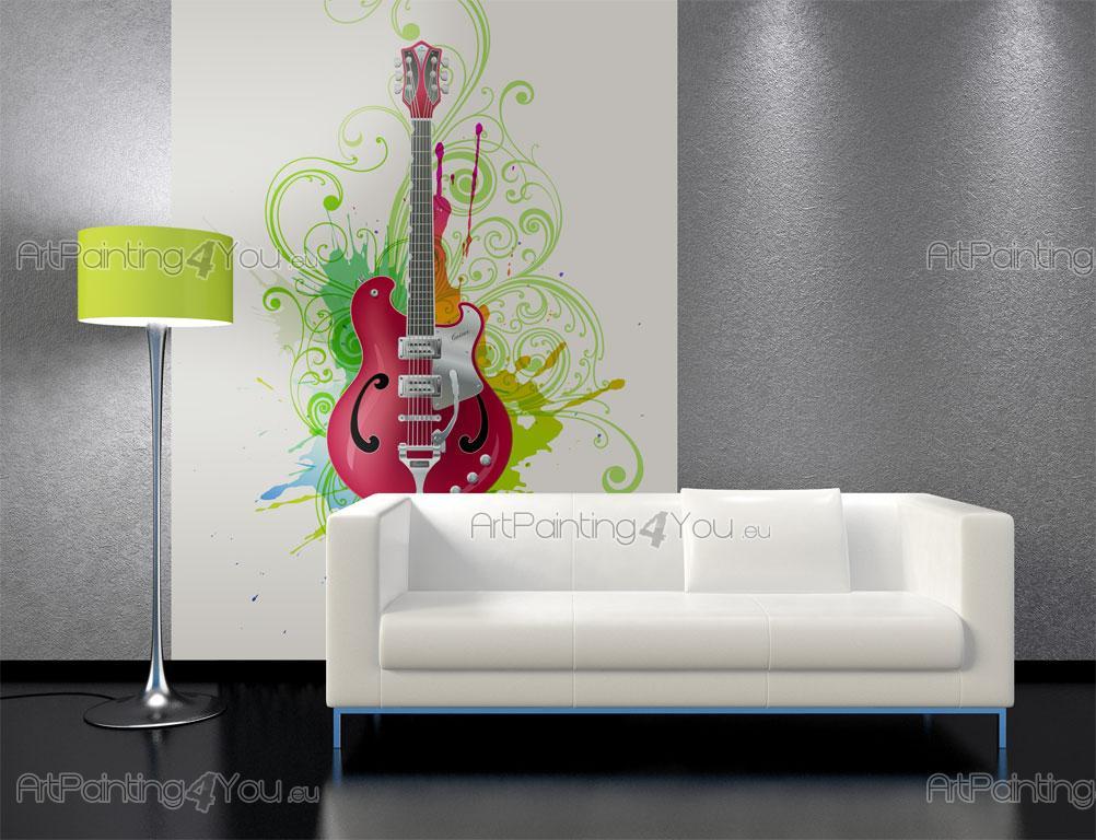 papier peint graffiti musique poster impression sur. Black Bedroom Furniture Sets. Home Design Ideas
