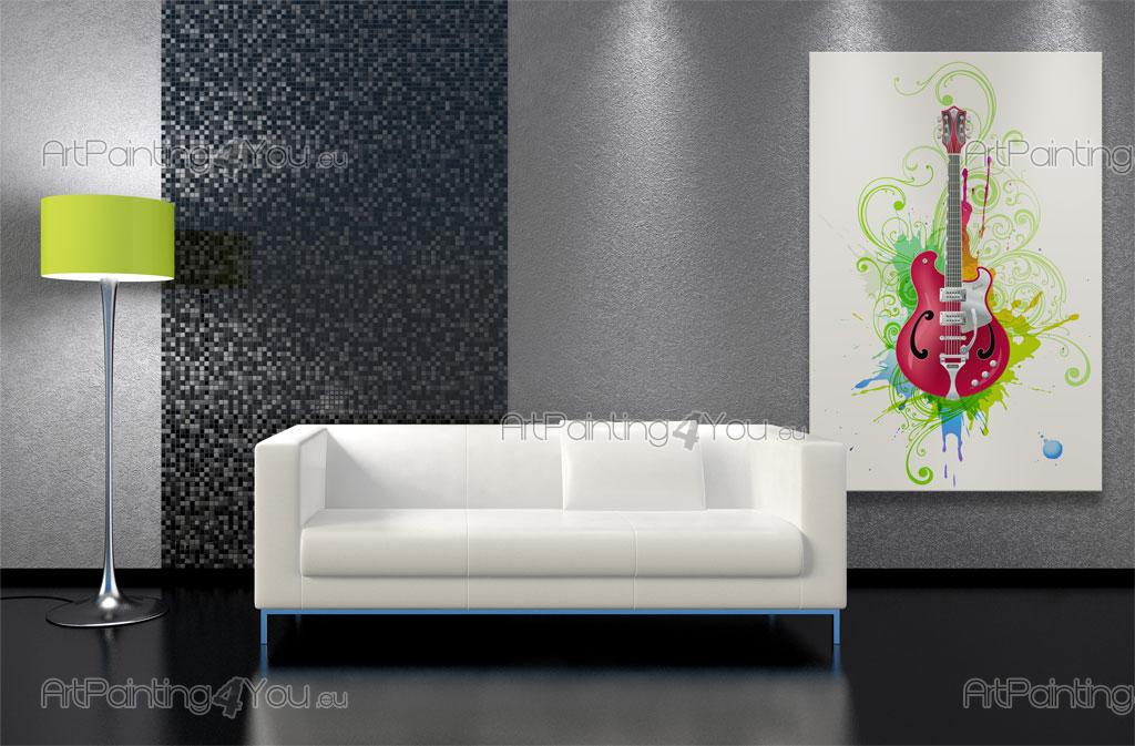 papier peint graffiti musique poster impression sur. Black Bedroom Furniture Sets. Home Design Ideas
