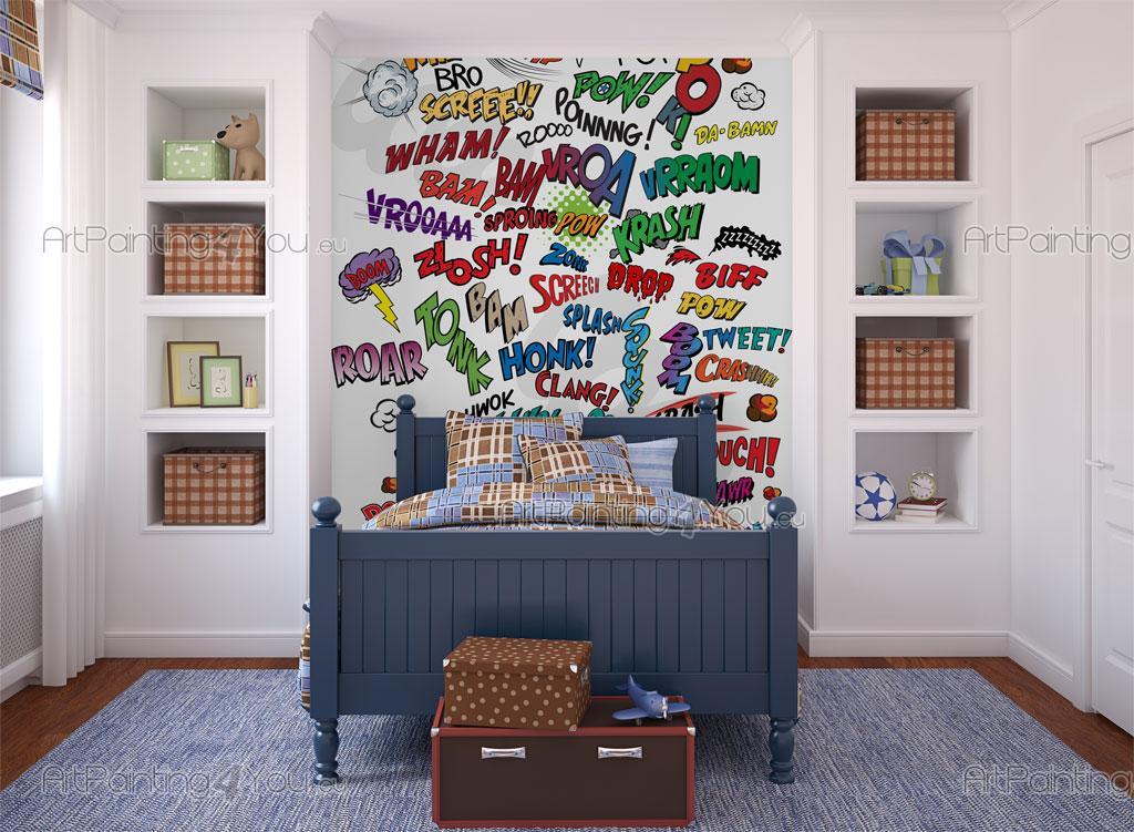 Murais e papel de parede banda desenhada cartoon for Bandas protectoras de paredes