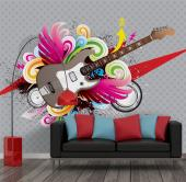 Guitar - Graffiti and Music Wall Murals & Posters