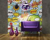 Bommen Cartoon - Fotobehang Graffiti en Muziek & Posters